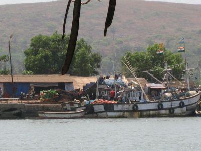 Goa: Am Hafen