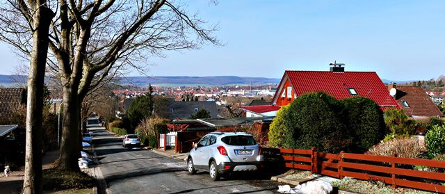 Blick von der Wilhelmshöher Straße auf Seesen