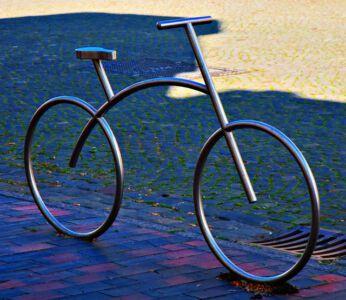 Fahrrad-Skulptur