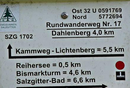 Kammweg zum Bismarckturm