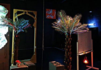 Palmenschmuck im Weihnachtsstyle