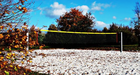 Verwaistes Volleyballfeld