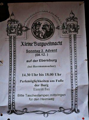 2. Advent auf der Ebersburg