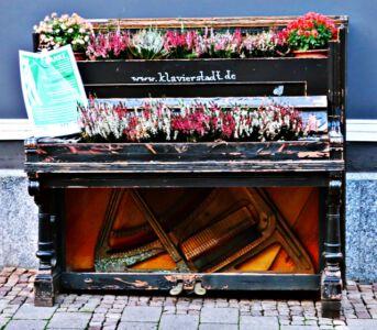 Bepflanztes Klavier