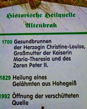 Historische Heilquelle Altenbrak