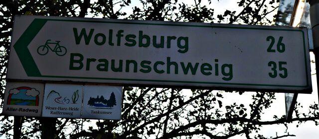 Fahrradweg nach Braunschweig