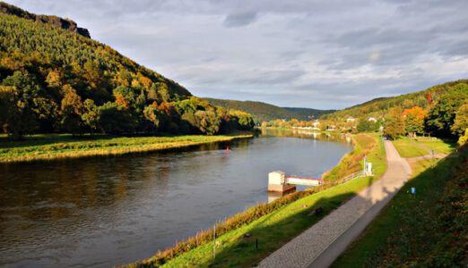 An der Elbe in Königstein