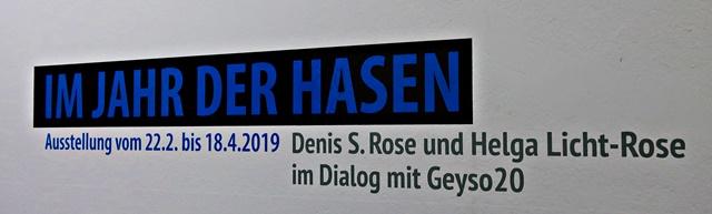 """Ausstellungseröffnung """"Im Jahr der Hasen"""""""