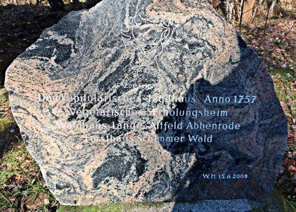 Gedenkstein am Forsthaus Schimmerwald