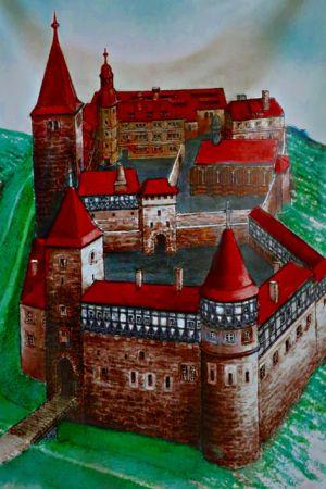 Modell der Burg