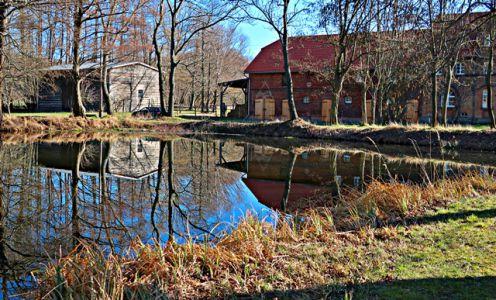 Teich-Idyll am Gutshaus
