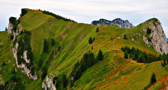 Bergstation Brauneck über die Achselköpfe zur Benediktenwand mit herrlicher Aussicht
