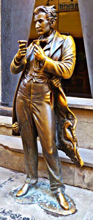 Lemberg: Statue Leopold von Sacher-Masoch