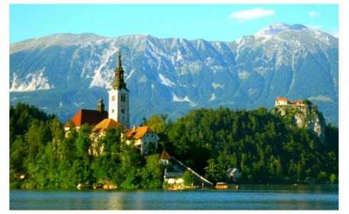Bleder See mit Kirche Mariä Himmelfahrt
