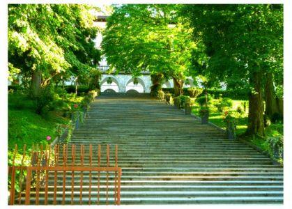 Aufgang zur Villa Bled