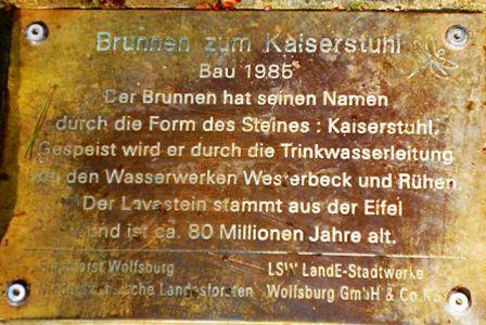 Brunnen zum Kaiserstuhl