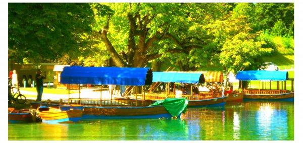 Boote auf dem Bleder See