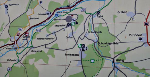 Wanderroute um die Haynsburg