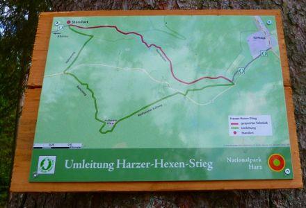 Umleitung am Harzer-Hexen-Stieg