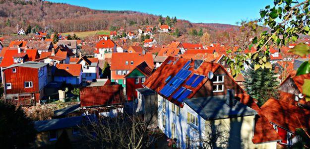 Blick auf Ilsenburg vom Kloster