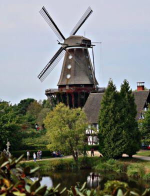 Blick auf das Mühlenmuseum