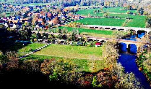Der Blick von der Rudelsburg