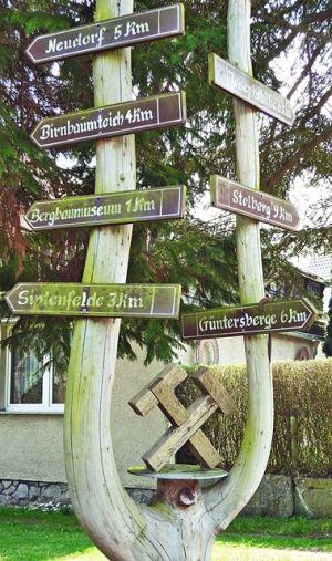 Wegkreuzung Straßberg