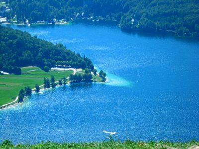 Blick auf den Lake Bohinj