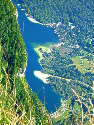 Blick auf den Bohinj Lake vom Prsivec