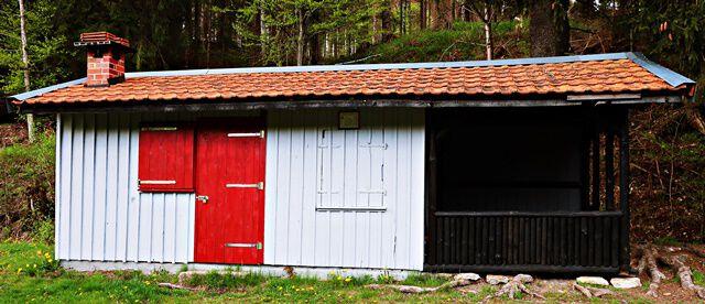 Hütte beim Neuen Teich