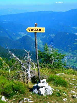 Auf dem Prsivec: Weg zur Vogar Alm