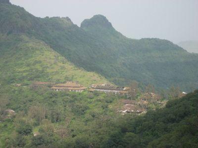 Blick vom Purandar Fort