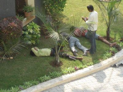 Der indische Bauarbeiter