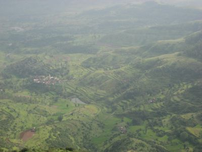 Landschaft am Purandar Fort