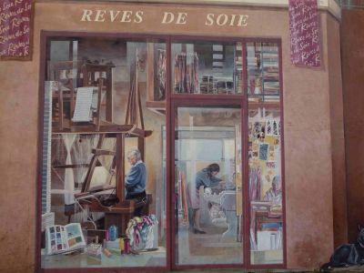 Im Viertel Croix-Rousse: Textilgallerie