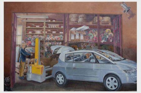 Im Viertel Croix-Rousse: Autowerkstatt