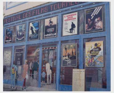 Im Viertel La Guillotière: Gemalte Kinowerbung