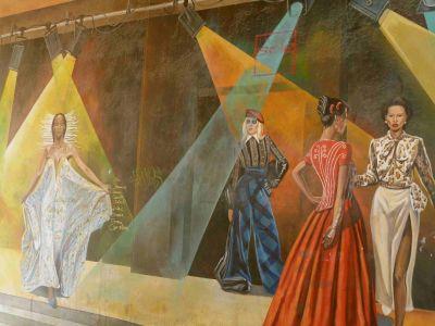 Im Viertel Croix-Rousse: Afrikanische Models
