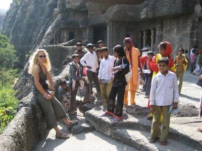 Ajanta-Höhlen: Fotosession