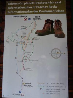 Informationsplan der Prachauer Felsen