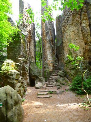 Prachauer Felsen: Schlanke Sandsteintürme