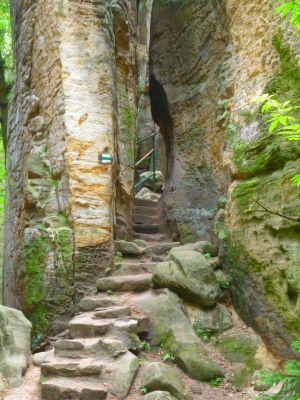 Prachauer Felsen Aufgang