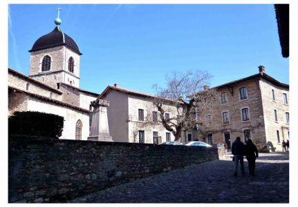 Pérouges: Rue du Prince, die ehemalige Hauptstraße