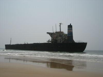 Schiffswrack_Candolim Beach