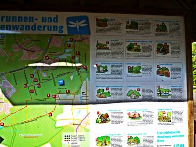 Startpunkt der Brunnen- und Quellenwanderung in Wolfsburg