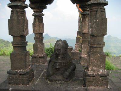 Statue on Top of Purandar Fort