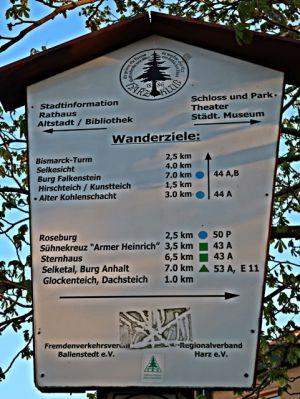 Ballenstedt Wanderziele