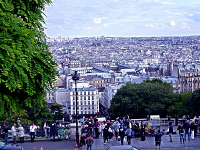 Treiben an der Sacré Coeur