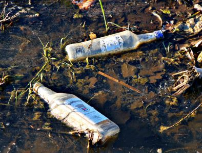 Tote Schnapsflaschen